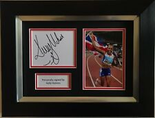 Kelly Holmes Hand Signed Autograph Framed Photo Display Olympics.