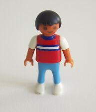 PLAYMOBIL (3155) ENFANT MODERNE - Garçon Pull Rouge Rayures Pantalon Bleu Clair