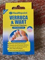 Medicated Verruca Removal System Salicylic Acid Washproof 10 Plasters 2 sizes UK