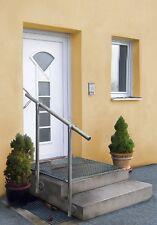 GE4 Edelstahl Geländerset für Eingang (seitliche Montage)  Treppen Geländer