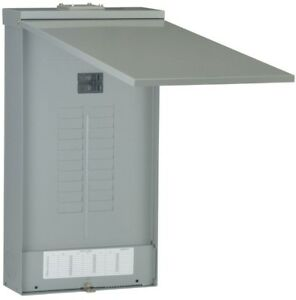 GE Outdoor Main Breaker Circuit Breaker Panel Box Load Center Plug In Copper Bus