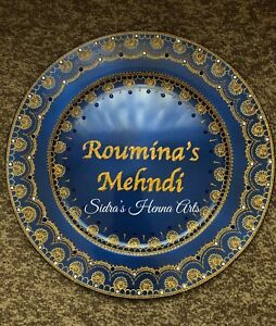 Henna / Mehndi Thaal Plates - Personalised & Designed In All Colours