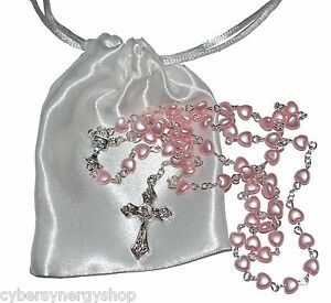 Baby 1st Rosary - Baptism - First Holy Communion Beads Girls Boys Gift Present