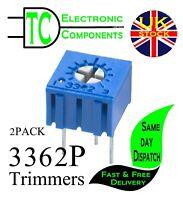 3362P Trimmer Trim-pots 100 ohm - 1M ohm (Different values available) 2 PACK