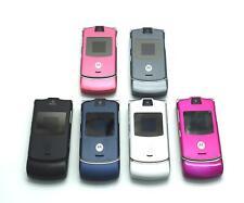 Motorola V3 Razr Sim Free Unlocked Bluetooth Flip Mobile Cell Phone