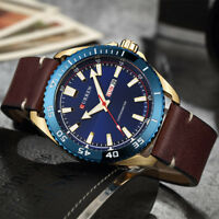 CURREN 6 Color Watches Men date display Fashion Leather Band Quartz Wristwatches