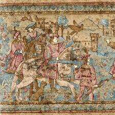 Romantic Medieval Tapestry Scene -Lords & Ladies - ONLY $9 Wallpaper Border A503