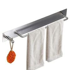 Sumnacon Towel Bar Rack With Hook, 13.38 Inch 3M Self Adhesive Stainless Stee.