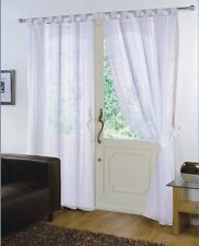 PAIR - VOILE NET PANELS TAB TOP 59'' X 90'' CURTAINS - WHITE
