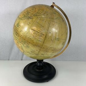 Early 20th Century Philips 12 Inch Terrestrial Globe London Geographical Inst