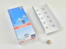 10 unidades OSRAM lámparas 2452mfx6 1,5w 12v bx8, 4d 1,5 vatios instrumentos iluminación