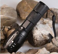 CREE XML T6 LED Zoomable Flashlight Torch 3800LM 5-Modes Rainproof AAA