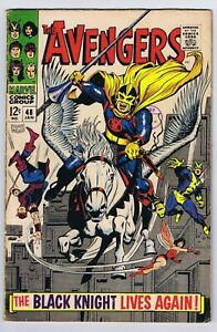 Marvel comics 1st Black knight in Avengers 48 Very Good cents copy 1967