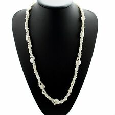 """Long Pearl Necklace Freshwater Baroque and Coin Pearls 60"""""""