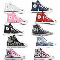 Converse Chuck Taylor All Star Hi Bottes Enfants Chucks Tissu Baskets Chaussures