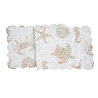 """GRAND TURKS Quilted Reversible 51"""" Table Runner by C&F - Beach, Coastal"""