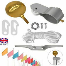 More details for flag pole repair 2'' truck pulley ball cleat clip halyard ties attach rope uk