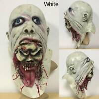 Halloween Bloody Scary Adult Zombie Mask Melting Face Latex Costume Walking D