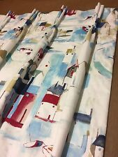 Prestigious St Ives Cobalt/Sea Spray Interlined, Made To Measure Curtains