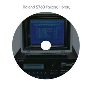 Roland S750 S760 S770 sampler Complete Factory sample collection - 14 Cd roms