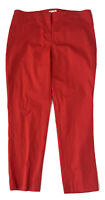 J. Jill Women's Pants Cotton Stretch Red Cropped Ankle Slim Straight Fit Size 8
