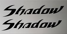 2 HONDA SHADOW TANK FENDER STICKERS DECALS