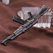 2016 NEW Gun Pendant Key ring chain Cross Fire 65mm AK47 Weapon Model Metal