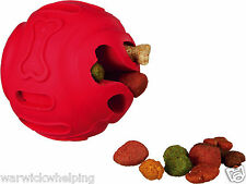 Trixie Treat Toy Ball Natural Rubber stuffing food treat Puppy Dog 8cm