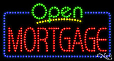 "New ""Open Mortgage"" 32x17 Solid/Animated Led Sign W/Custom Options 25537"