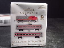 Hallmark 2011 Miniature Ornament Set/3 Lionel Santa Fe Super Chief New Old Stk