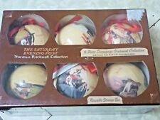 The Saturday Evening Post Norman Rockwell Decoupage Collection 6 Ornaments NIB