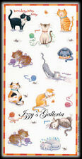 Vintage Hallmark Cats Pets Kitty Cat Funny Cute Yarn Eating Kittens Stickers