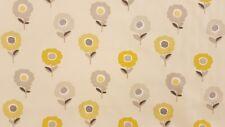 Fryetts Annika Ochre Curtain Upholstery Craft Designer Cotton Fabric