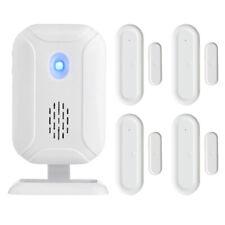 Wireless Window Door Burglar w/ 4 Magnetic Sensor Home Security Alarm System