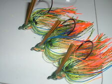 Yank Tackle Custom Weedless Swim Jig Lot Of 3 Bullet Nose Summer Sunfish 1/2 oz.