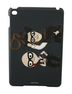 DOLCE & GABBANA Tablet Fitted Case Leather Designer Cowboy Patch iPad mini $500