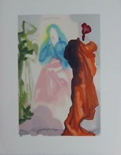 Salvador Dali Original Woodblock Engraving Heaven 33 Divine Comedy 1960 COA