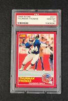 Buffalo Bills Thurman Thomas 1989 Score #211 PSA 10 GEM MINT