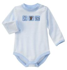 NEW Gymboree Baby Boys Newborn Bear Stripe Blue Cotton Long Sleeve Bodysuit