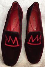 Modern Vise Red Velvet Shoe Size 38