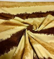SUPER LUXURIOUS BROWN GOLD CHENILLE CURTAIN UPHOLSTERY FABRIC 4.4 METRES