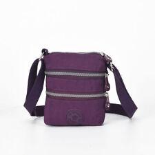 Damen Mädchen Nylon Viele Taschen Kleines Kreuz Körper Schulter Handtasche