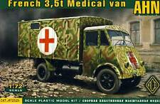 ACE - French 3,5t Medical van AHN Ambulanza Wehrmacht 1:72 Modello Kit NUOVO