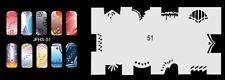 Fingernagel Schablone (airbrush nail art) JFH03-051