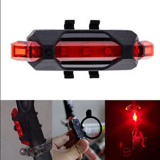 5 LED USB Bike Bicycle Cycling Tail Rear Safety Warning Rechargeable Light Lamp