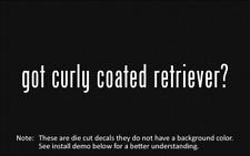 (2x) got curly coated retriever? Sticker Die Cut Decal