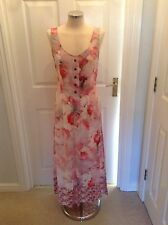 Fabulously floaty evening dress; silk + pink floral print by 'Kelly Love':10/12