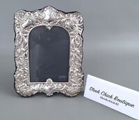 Vintage ORNATE Sterling Silver RBB Picture Frame Made in England-359g - 9 x 6.5