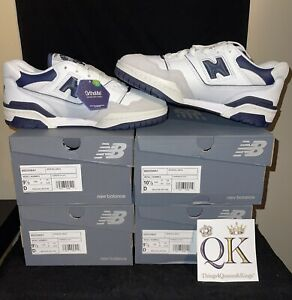New Balance 550 NB Navy Blue White Men Unisex Casual Lifestyle Shoes BB550WA1-D