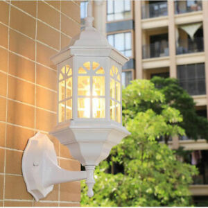 Vintage Outdoor Wall Light  IP65 Glass Wall Sconce Garden Wall Lamp White